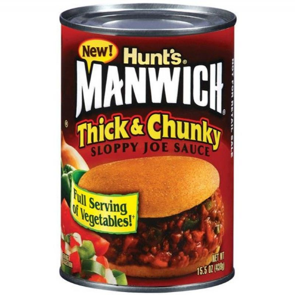 Hunt's Manwich Thick and Chunky Sloppy Joe Sauce 16.3oz (462g)